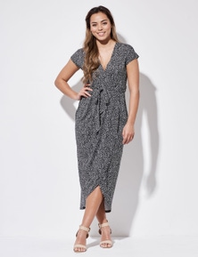 Crossroads Knit Wrap Maxi Dress
