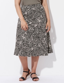 Crossroads Flared Midi Skirt