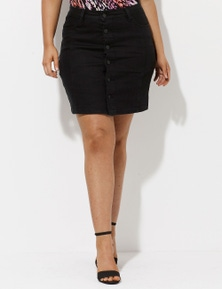 Crossroads Button Front Denim Skirt
