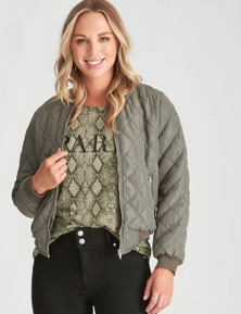 Crossroads Long Sleeve Bomber Jacket