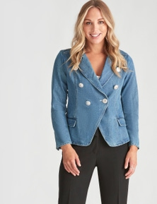 Crossroads Button Front Blazer Jacket