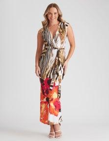 Crossroads Sleeve Jersey Maxi Dress
