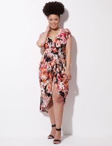Crossroads Knit Wrap Maxi Dress