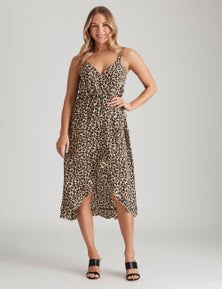 Crossroads Leopard Wrap Dress