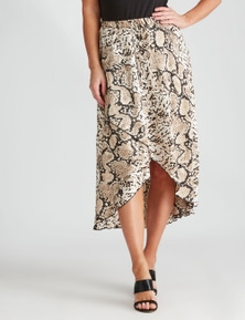 Crossroads Aymmetric Midi Skirt