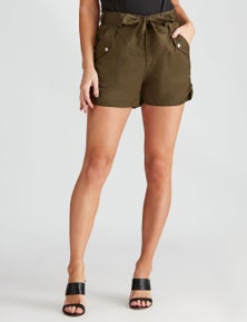 Crossroads Ruched Side Utility Short