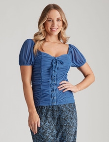 Crossroads Knit Mesh Corset Top