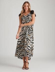 Crossroads Strappy Print Maxi Dress