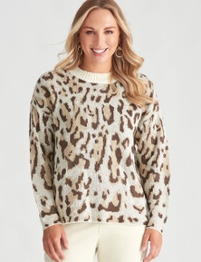 Crossroads Animal Crew Neck Knit Jumper