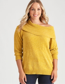 Crossroads Chenille Off Shoulder Knit