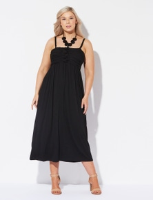 Crossroads Side Buckle Wrap Dress