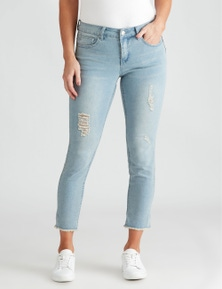 Crossroads Girlfriend Ripped Jean