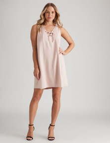 Crossroads Eyelet Neck Swing Dres