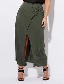 Crossroads Side Buckle Wrap Skirt