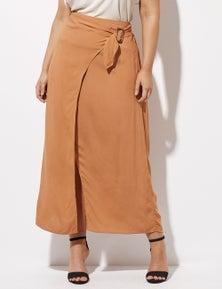 Crossroads Buckle Side Wrap Skirt