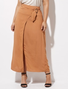 Crossroads Buckle Side Wrap Skirt