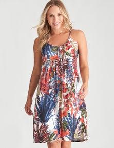 Crossroads Tropical Print Dress