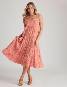 Crossroads Tiered Print Maxi Dress Dress