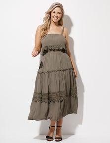 Crossroads Crochet Trim Maxi Dress Dress