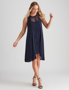 Crossroads Crochet Inset Hilo Dress