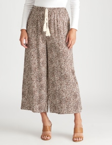 Crossroads Button Side Print Pant
