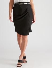 Crossroads  Side Pleat Belt Skirt