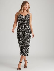 Crossroads Strappy Crossover Woven Jumpsuit