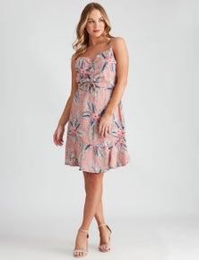 Crossroads Ruched Bodice Dress