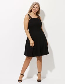 Crossroads Multi Strap Fit And Flare Dress