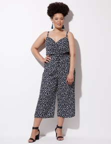 Crossroads Ruched Front Jumpsuit