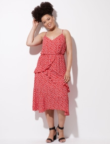 Crossroads Strappy Ruffle Dress