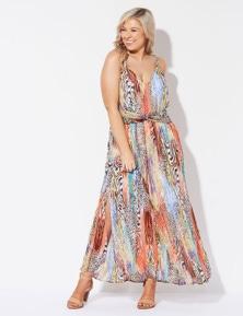 Crossroads Twist Waist Maxi Dress