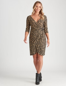 Crossroads Knit Buckle Wrap Dress