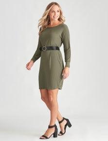 Crossroads Belt Dolmain Sweater Dress