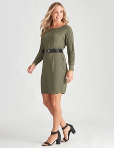 Crossroads Belt Dolmain Sweater Dress