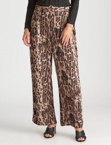 Crossroads Self Belt Printed Pant