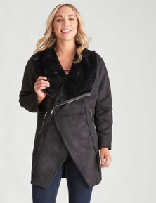 Crossroads Waterfall Sherpa Coat