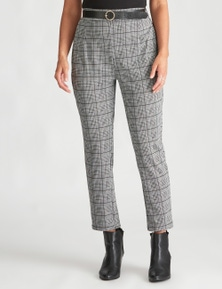 Crossroads Belted Check Pant