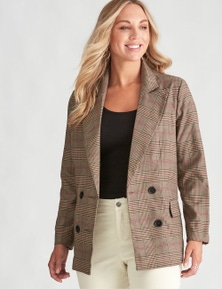 Crossroads Check Blazer