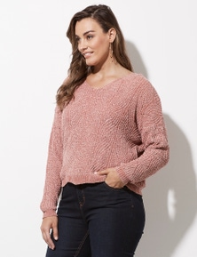 Crossroads Chenille V Neck Jumper