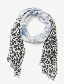 Crossroads Mixed Print Scarf