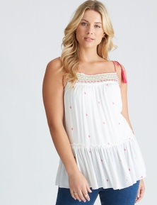 Crossroads Embroidered Cami Top