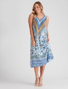 Crossroads Printed Midi Dress