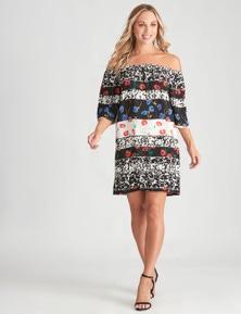 Crossroads Floral Stripe Dress
