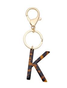 Crossroads K Letter Keyring