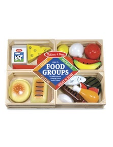 Melissa & Doug - Wooden Food Groups