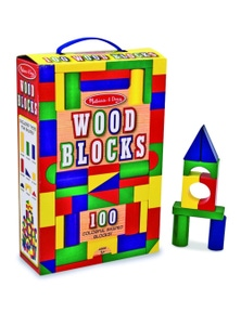 Melissa & Doug - 100 Wood Block Set
