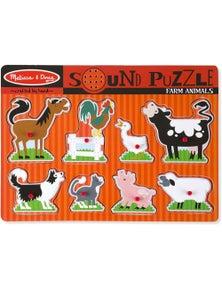 Melissa & Doug - Farm Animals Sound Puzzle - 8pc