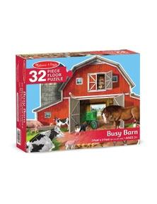 Melissa & Doug - Busy Barn Shaped Floor Puzzle - 32pc