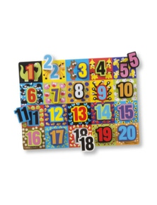 Melissa & Doug - Jumbo Numbers Chunky Puzzle 20 Pieces